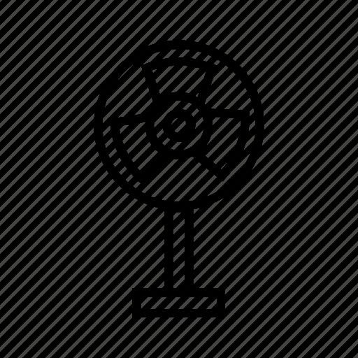 cooler, electronic device, fan, pedestal fan icon