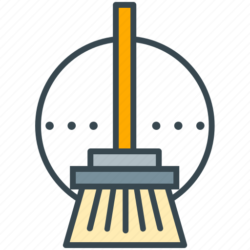 broom, brush, clean, cleaner, mop, sweep, wiper icon