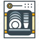 appliance, dishes, dishwasher, home, kitchen, washing up icon