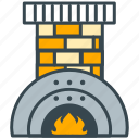 chimney, cozy, fire, fireplace, hearth, home, homey icon
