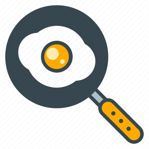 chef, cook, egg, frying, kitchen, pan, skillet icon