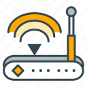 antenna, device, internet, modem, router, signal, wifi icon
