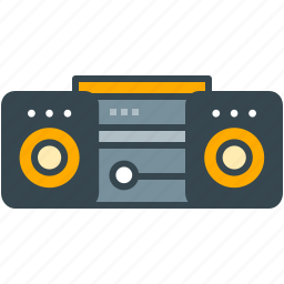 appliance, cd, device, music, player, sound, system icon