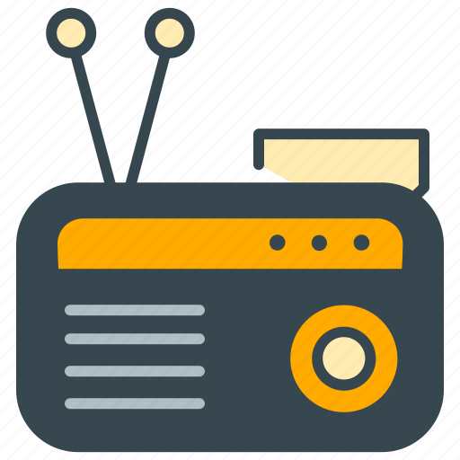 antenna, device, music, radio, retro, sound, vintage icon