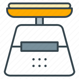food, kitchen, measure, recipe, scale, scales, weight icon