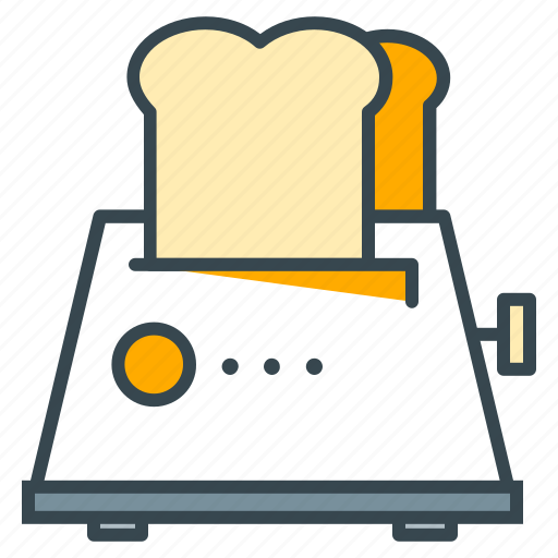 appliance, bread, breakfast, food, kitchen, toast, toaster icon