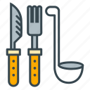 cook, cutlery, eat, food, fork, knife, utensils icon