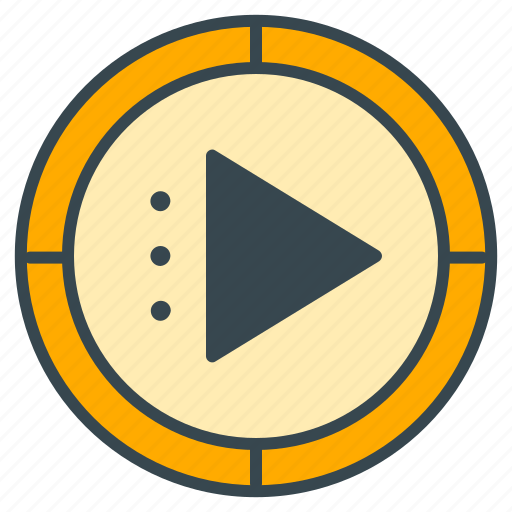 play, playback, player, press, video icon