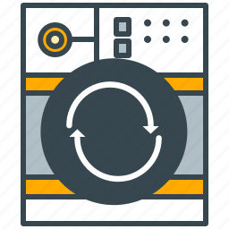 appliance, home, laundromat, laundry, machine, wash, washing icon