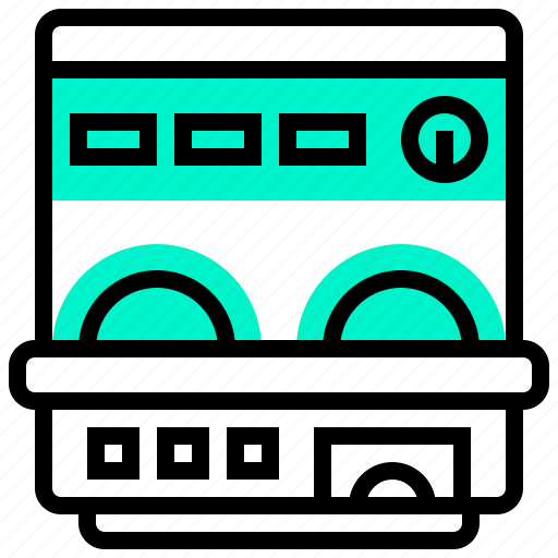 appliance, dish, electric, home, washer icon