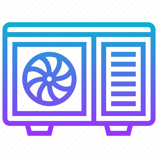 air, appliance, conditioner, electric, home icon