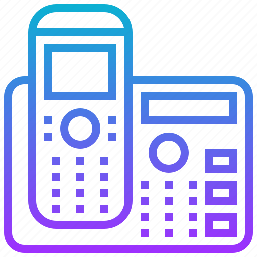 appliance, electric, home, telephone icon