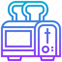 appliance, electric, home, toaster icon