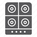 cooker, electric, home, hot, kitchen, plate, stove icon