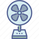 air, cool, fan, table