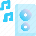 home, electronic, louder, appliances, speaker icon