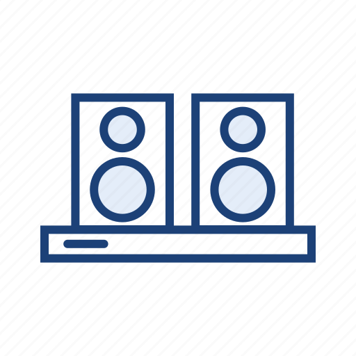 electronic appliance, electronic device, home theater, speaker icon