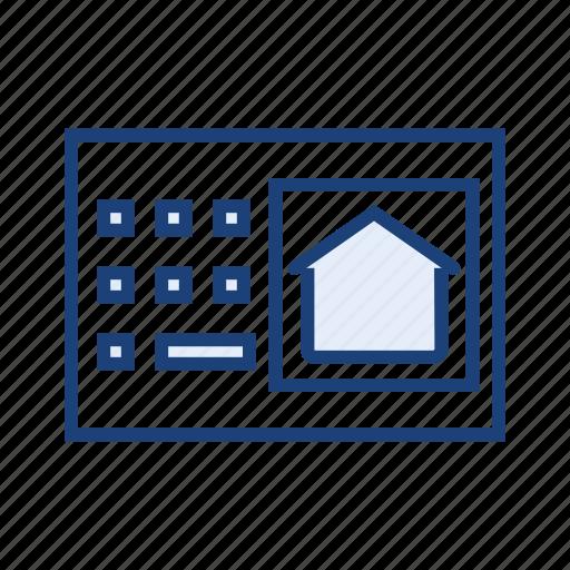 door lock, safe home, security, smart lock icon