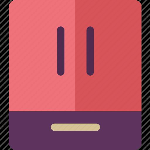 appliances, french, fridge, home, kitchen, refrigerator icon