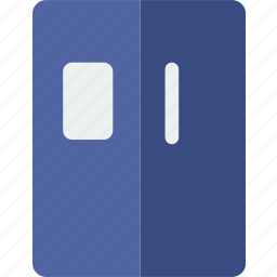 appliance, electric, fridge, kitchen, refrigerator, side icon