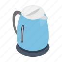 appliance, electric, handle, isometric, kettle, sign, style icon