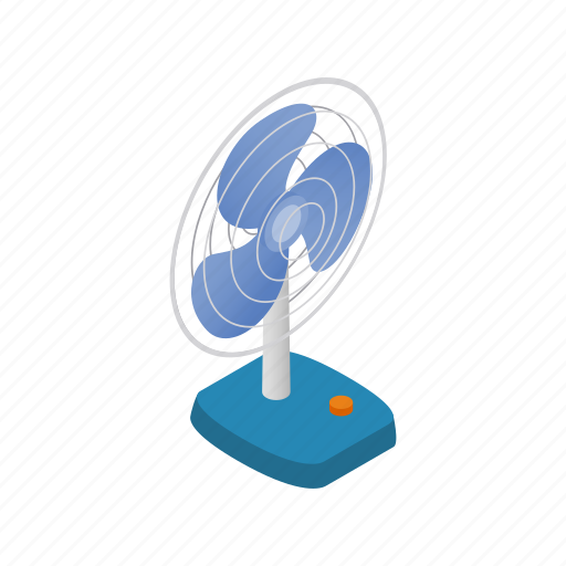 appliance, design, electric, fan, household, isometric, technology icon