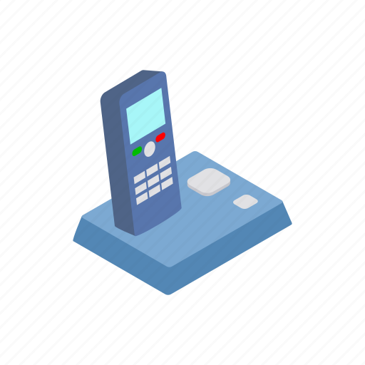business, isometric, phone, sign, style, telephone, wireless icon