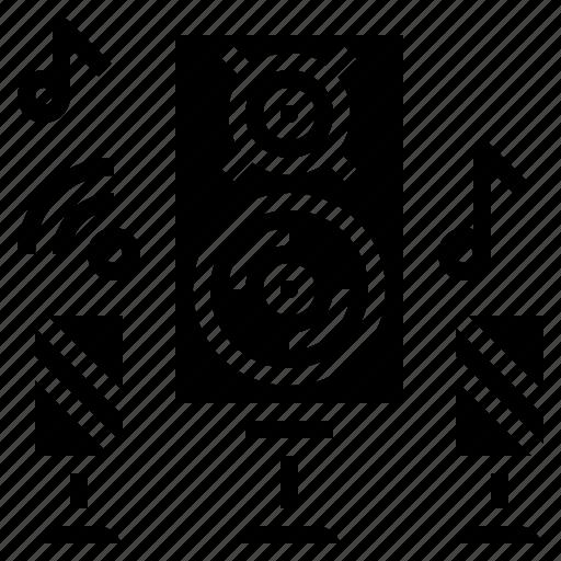 audio, loudspeaker, music, sound, speaker, subwoofer, woofer icon