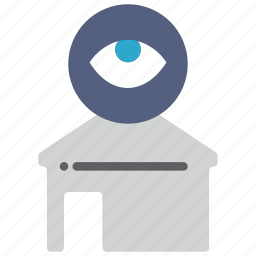 automation, eye, home, view icon