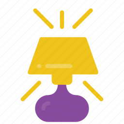 automation, home, lamp, light, on icon