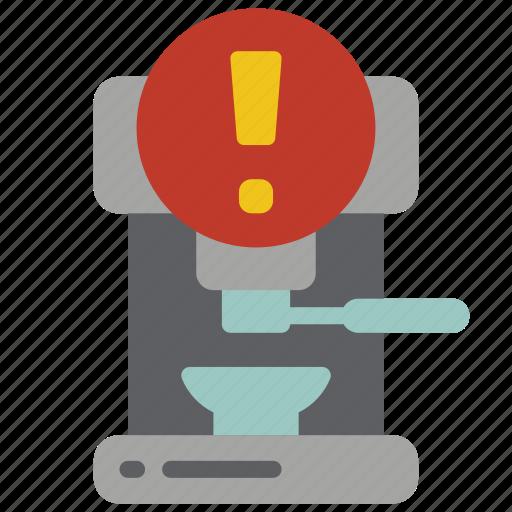 alert, automation, coffee, home, machine, utility icon