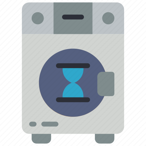 automation, busy, home, machine, utility, washing icon