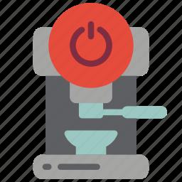 automation, coffee, home, machine, off, utlity icon