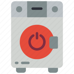 automation, home, machine, off, utlity, washing icon