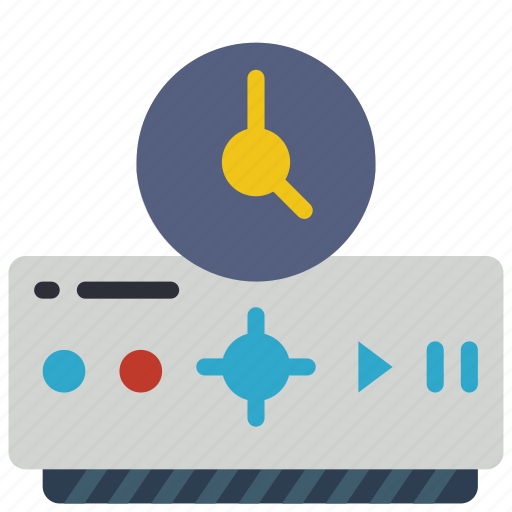 automation, box, dvr, home, timer, tv icon