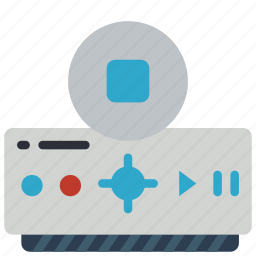 automation, box, dvr, home, stop, tv icon