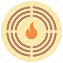 alarm, automation, fire, home, sensor icon