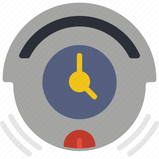 automation, home, roomba, timer, vacuum icon