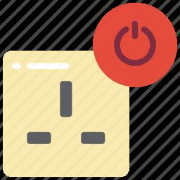 automation, home, off, plug, uk icon