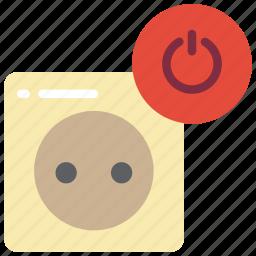 automation, europe, home, off, plug icon