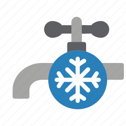 automation, cold, home, tap, water icon
