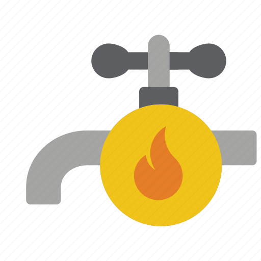automation, home, hot, tap, water icon
