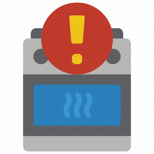 alert, automation, cooker, home, oven icon