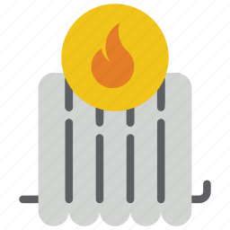 automation, heating, home, hot, radiator icon