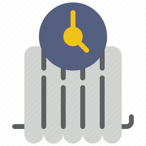 automation, heating, home, radiator, timer icon