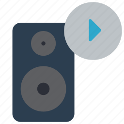 automation, home, music, play, speaker icon