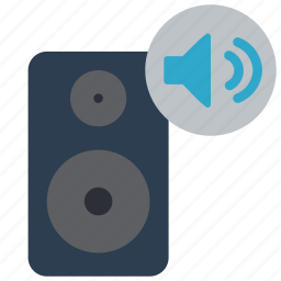 automation, home, music, speaker, turn, up icon