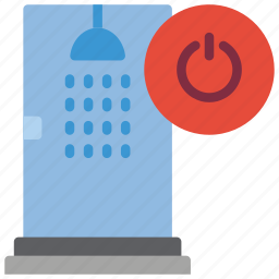 automation, bathroom, home, off, remote, shower icon
