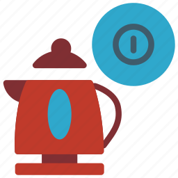 automation, drink, home, kettle, on, power icon