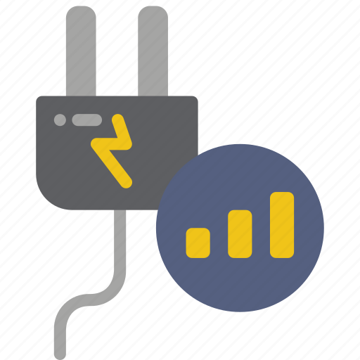 automation, electricity, home, meter, power, stats icon